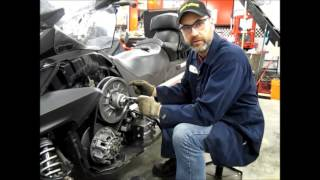 10. Ski-doo Expedition QRS Clutch Repair Series Part 1 -  Jackshaft Removal