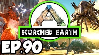 ARK: Scorched Earth Ep.90 - KENTROSAURUS DINOSAURS, FAST WYVERN BABIES!! (Modded Dinosaurs Gameplay)
