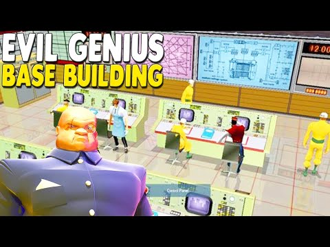 FAVORITE BASE BUILDING GAME Evil Genius | Ep. 7 | Secret Underground Base Build for World Domination