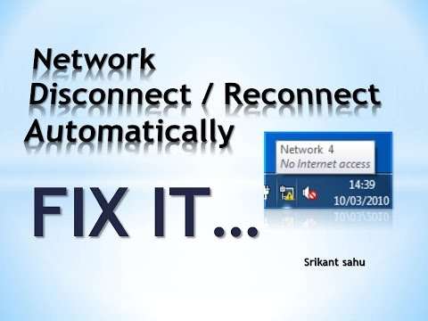 How to Fix Network connection Disconnect Automatically in your Computer