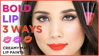 bold lip 3 ways | tarteist lip paint