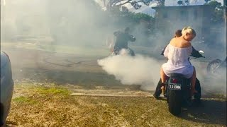 Central Coast Australia  city images : Harley-Davidson FXSB Ape Hanger Burnout (Mitch from Central coast Australia)
