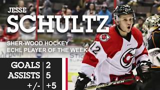 CYCLONES TV: Jesse Schultz Named ECHL Player of the Week