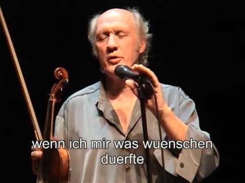 """Herman van Veen zingt """"Wenn ich mir was wunschen durfte..."""""""
