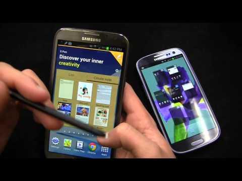 Samsung Galaxy Note II vs. Samsung Galaxy S III Dogfight Part 1