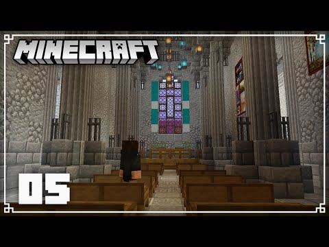 Building the Church Interior & Netherite Mining! | Minecraft 1.16 Survival Lets Play