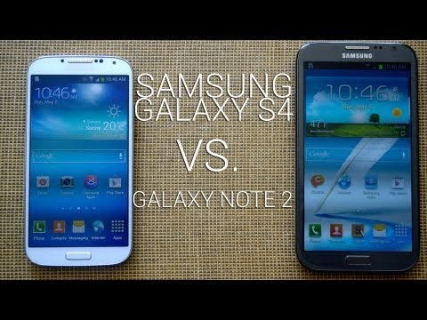 Samsung Galaxy S4 vs Galaxy Note 2