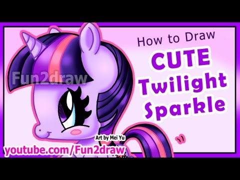 How to Draw My Little Pony - Twilight Sparkle - Unicorn Fun2draw Easy Art Lessons