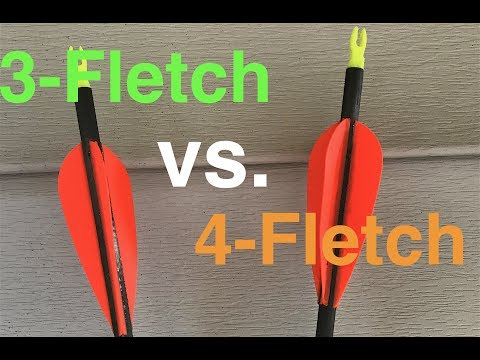 60 Yard Fletching Test: 4-Fletch Vs. 3-Fletch W/ Fixed Blade Broadhead