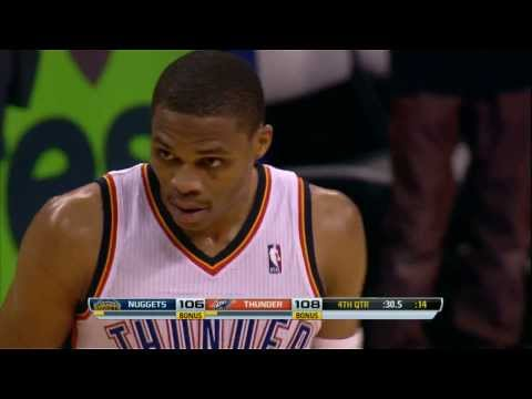 Video: Russell Westbrook Crosses Up Two Defenders for the Clutch Layup