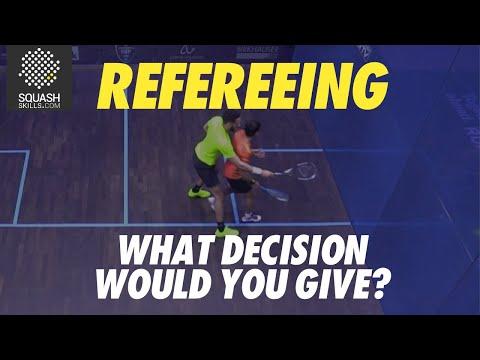 Squash Refereeing: Declan James v Saurav Ghosal - Yes let