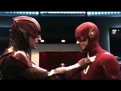 Crisis on Infinite Earths Cameo   DCEU Barry Allen meets Barry Allen Scene