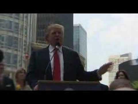 Donald Trump, Chicago press conference, 5/24/07