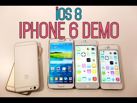 Display - See How The iPhone 6 Display Looks Like While Running iOS 8. iPhone 6 Display comparison VS Galaxy S5 & iPhone 5s. This is the CLONE, not the real iPhone 6, just a demo. MORE Info On Clone:...