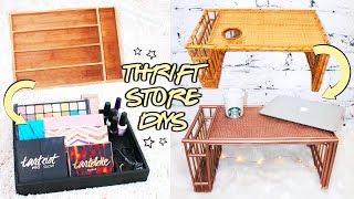 3 THRIFT STORE DIYS ☆ makeup storage and organization under $5