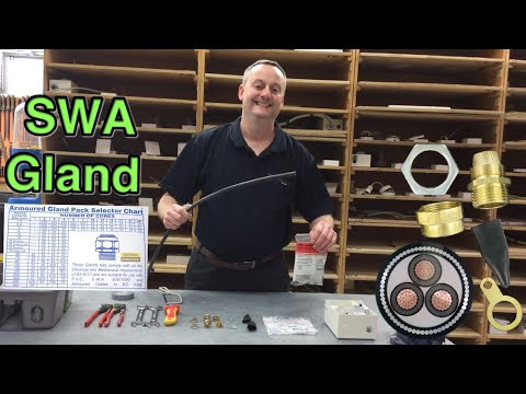 How to Make off a SWA Cable Gland (Steel Wire Armored Cable) Step By Step Demonstration