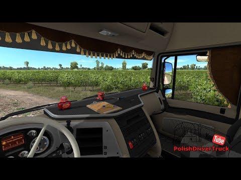 Animated Side Curtains for DAF 105 v1.0