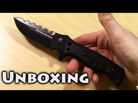 Unboxing And Initial Thoughts On The HK Outdoors Tiger Sharks Dive Knife From GearBest
