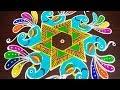 Download Lagu Simple Peacock rangoli for new year 2019 - margazhi pongal kolam with 9x5 dots - friday muggulu Mp3 Free