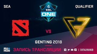 New Begining vs Clutch Gamers, ESL One Genting SEA Qualifier, game 2 [Lex, 4ce]