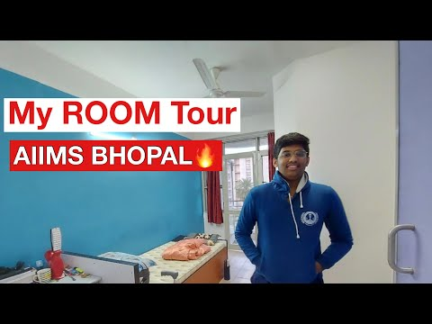 My room tour at AIIMS Bhopal 🔥 || Complete details of hostel room at AIIMS🔥