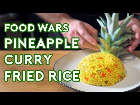 How to Make the PineappleCurry Fried Rice from the Anime Series Food Wars  Shokugeki no