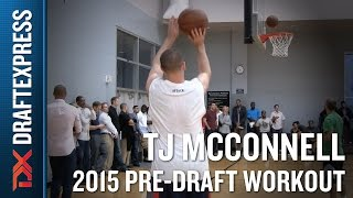 T.J. McConnell 2015 NBA Draft Workout Video