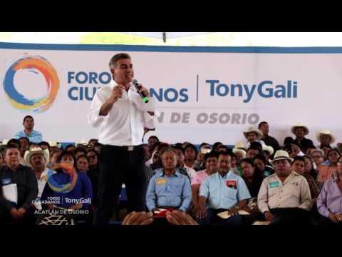Logra Tony Gali gran participación en los Foros Ciudadanos de la Mixteca