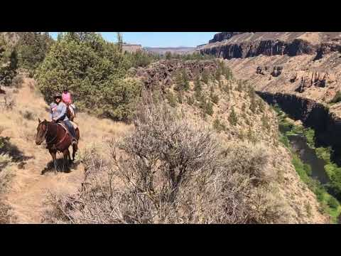 Horseback Riding by Smith Rock Oregon