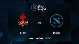 Fire vs is GG, The Kiev Major NA Main Qualifiers