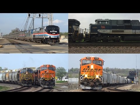Railfanning the Fort Madison and Galesburg Areas - *Featuring NS 1070 and AMTK 822!* - 4/15/2017