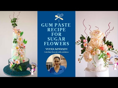 Homemade Gum Paste Recipe For Sugar Flowers - Gumpaste Recipe