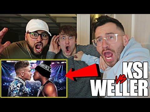 REACTING TO KSI VS WELLER FULL FIGHT W/ TEAM ALBOE!! **CALLING OUT KSI** (видео)