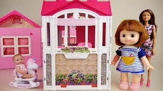 Video Baby doll and Barbie pink house toys MP3, 3GP, MP4, WEBM, AVI, FLV Desember 2017