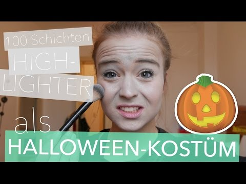 DIY Halloween-Kostüm mit 100 Schichten Highlighter im Live Test / 100 Layers for Halloween