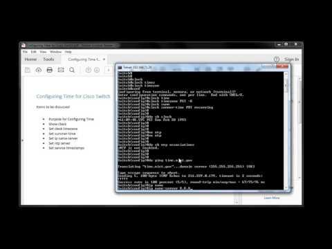 Configure Cisco Switch For NTP (видео)