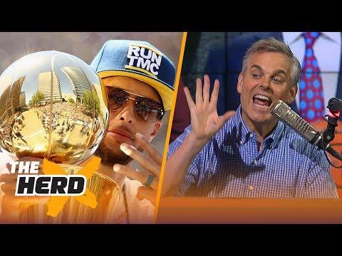 Colin Cowherd on Curry's Warriors ruining NBA Draft, Paul George saving Lakers | NBA | THE HERD (видео)
