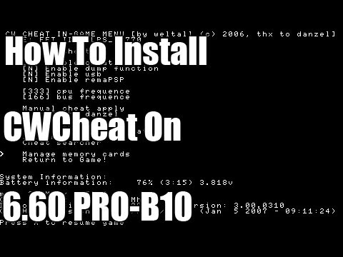 comment installer cwcheat