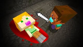 BABY MINECRAFT -  BABY STEVE KILLS BABY ALEX!•