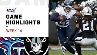 Titans vs. Raiders Week 14 Highlights | NFL 2019