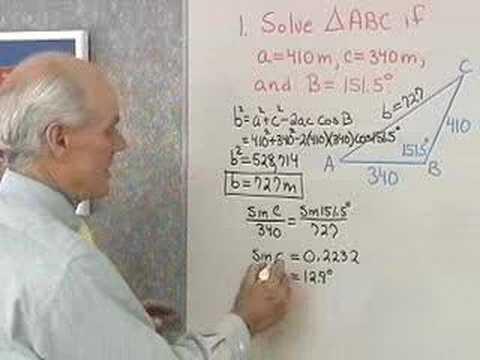 Trigonometrie: Der Kosinussatz