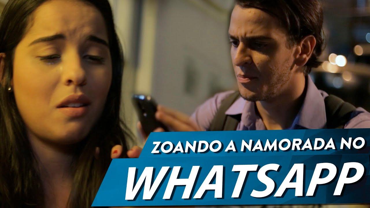 Zoando a namorada no WhatsApp