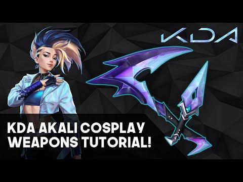 KDA Akali's Kama and Kunai! Cosplay Weapons Tutorial