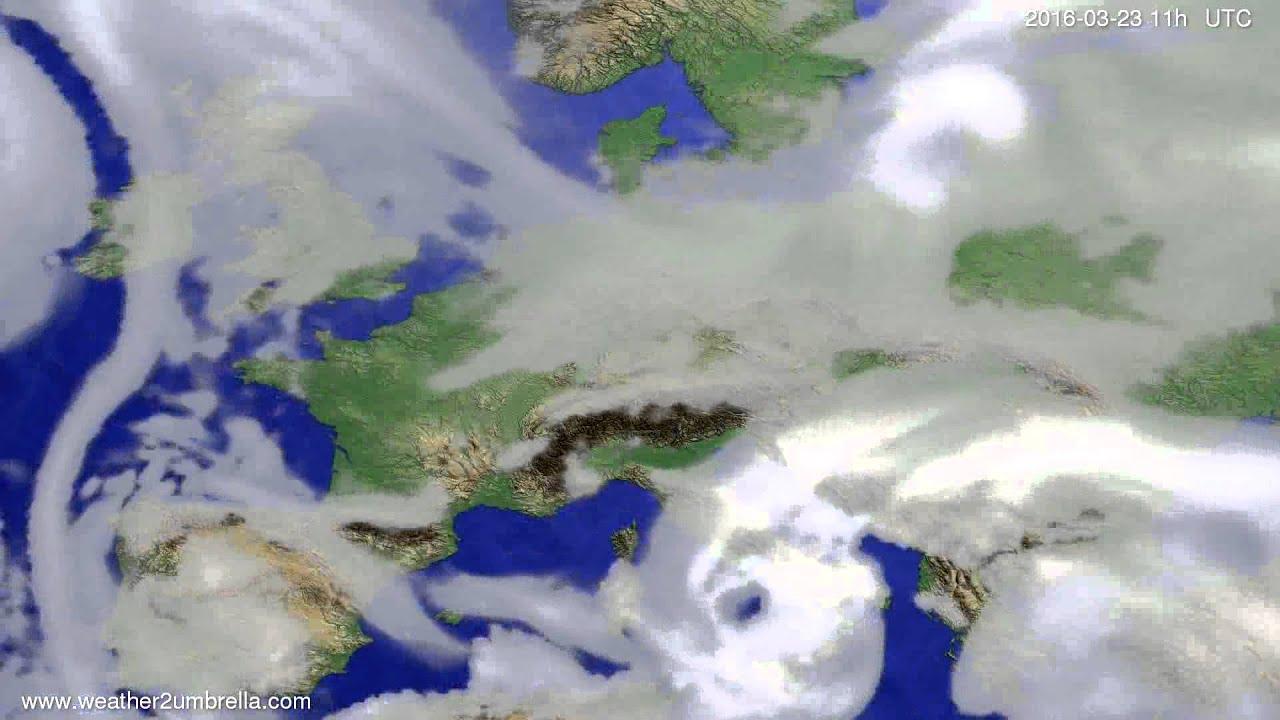 Cloud forecast Europe 2016-03-20