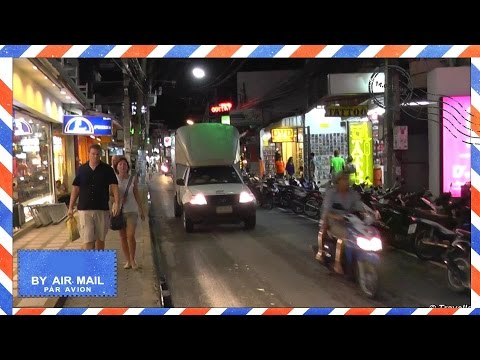 Chaweng Beach Road at night – Koh Samui, Thailand – walking up Chaweng Beach Road