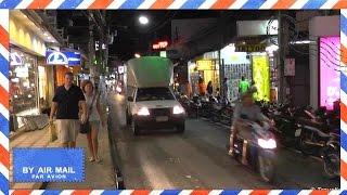 Samui Thailand  City new picture : Chaweng Beach Road at night - Koh Samui, Thailand - walking up Chaweng Beach Road