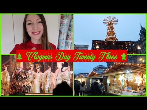 VLOGMAS DAY 23 - Pantomime & Liverpool Christmas Markets  L  Aclaireytale