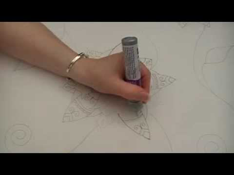Silk Painting with gutta or outliner (Moroccan Summer Part1)