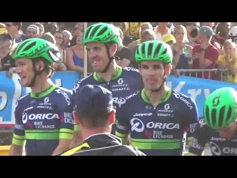 Cycling Team ORICA BIKEEXCHANGE @ Paris Tour de France 24 july 2016 / juillet