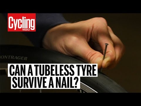 Can a tubeless tyre survive a nail? | Cycling Weekly